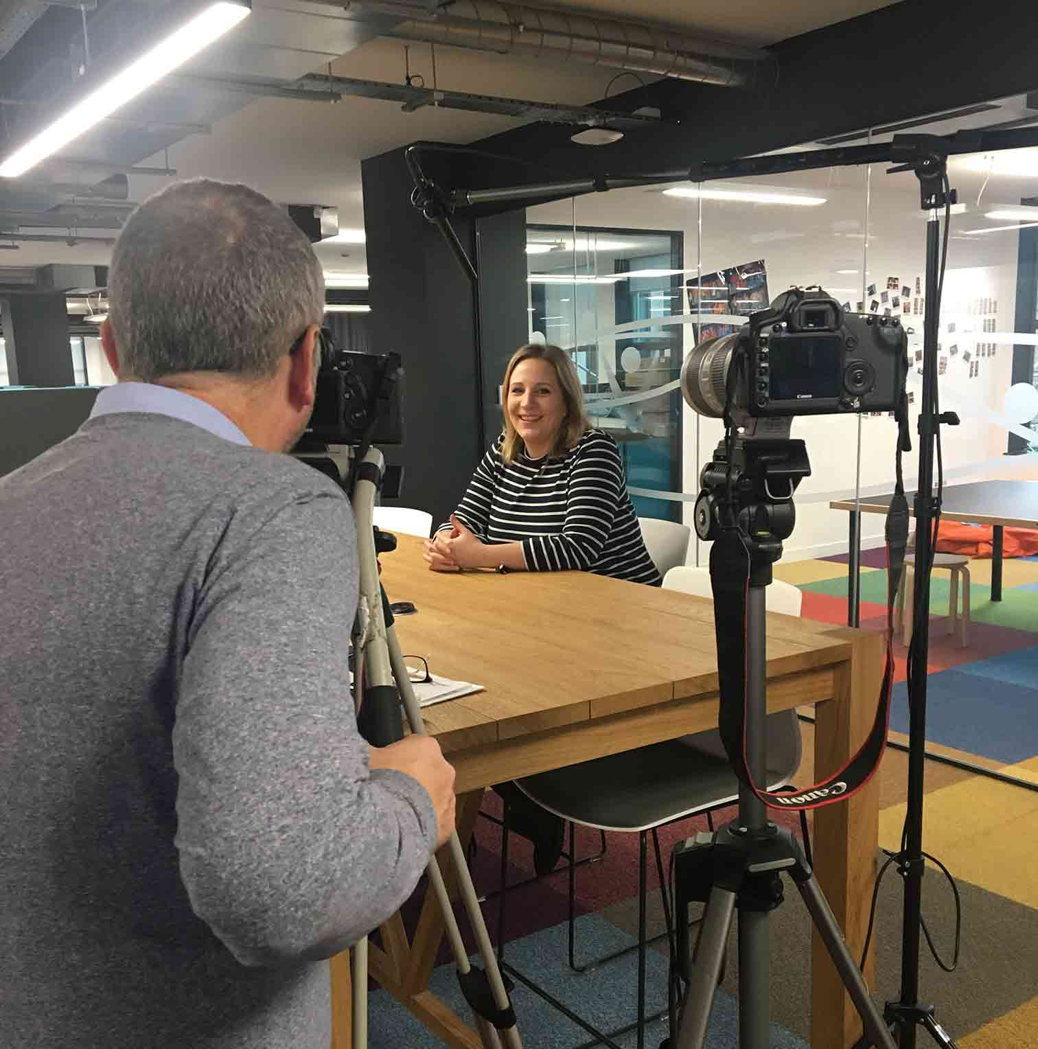 Great day filming at Vonage HQ London!