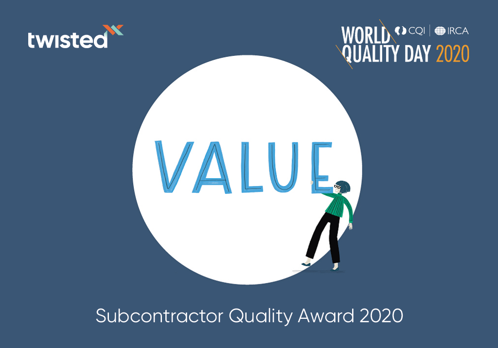 Twisted Wins 'Subcontractor Quality Award' 2020