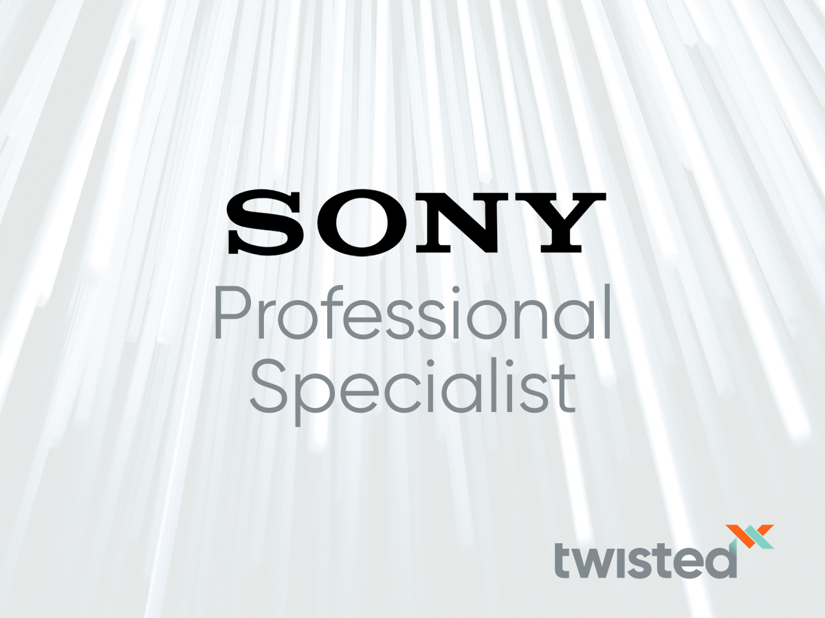 TwistedPair receives Sony Professional Specialist: Professional Displays and Solutions Certification